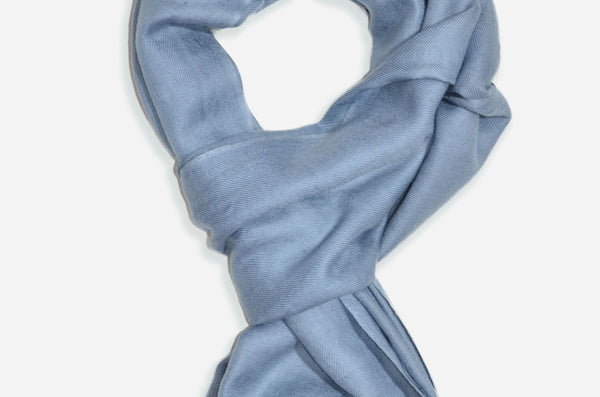 "Beautifully light and scrumptiously soft ""Graphite Grey"" Cashmere Scarf is hand woven from the highest grade of 100% pure Cashmere from Kashmir."