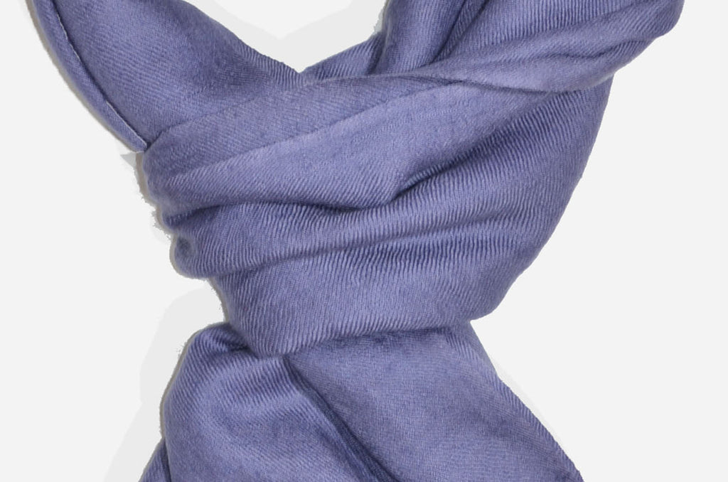 "Beautifully light and scrumptiously soft ""Pebble Grey"" Cashmere Scarf is hand woven from the highest grade of 100% pure Cashmere from Kashmir."