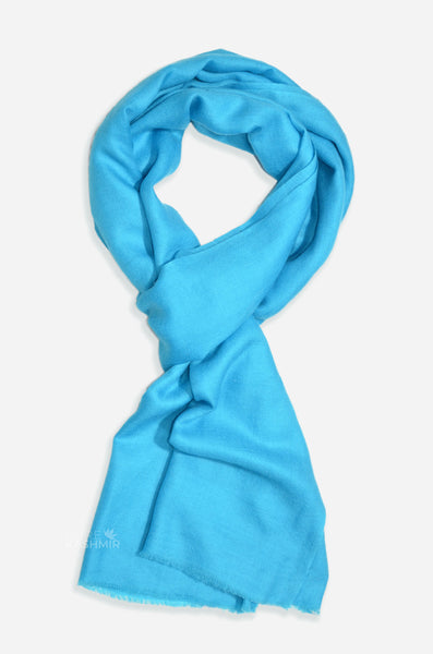 "Beautifully light and scrumptiously soft ""Turquoise"" Cashmere Scarf is hand woven from the highest grade of 100% pure Cashmere from Kashmir."