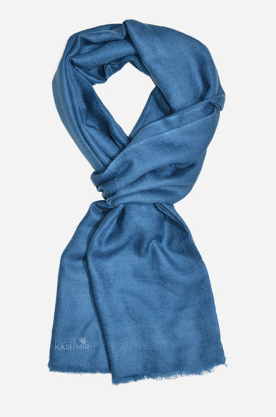 "Beautifully light and scrumptiously soft ""Slate Grey"" Cashmere Scarf is hand woven from the highest grade of 100% pure Cashmere from Kashmir."