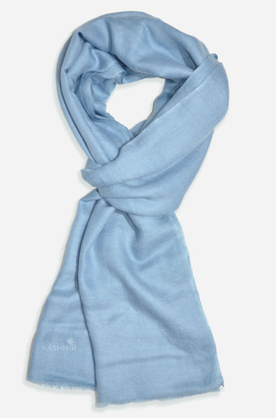"Beautifully light and scrumptiously soft ""Silver Grey"" Cashmere Scarf is hand woven from the highest grade of 100% pure Cashmere from Kashmir."