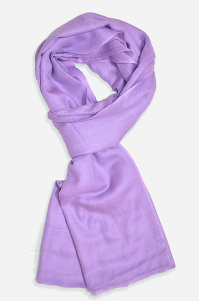 "Beautifully light and scrumptiously soft ""Amethyst"" Cashmere Scarf is hand woven from the highest grade of 100% pure Cashmere from Kashmir."