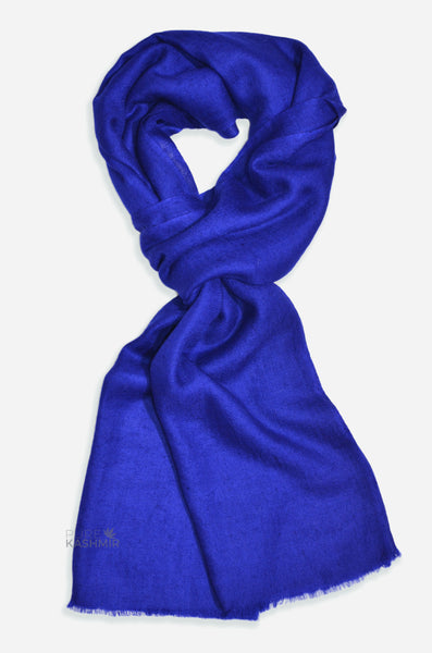 "Beautifully light and scrumptiously soft ""Indigo"" Cashmere Scarf is hand woven from the highest grade of 100% pure Cashmere from Kashmir."