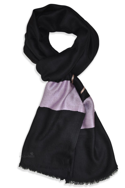 black and pink merino scarf
