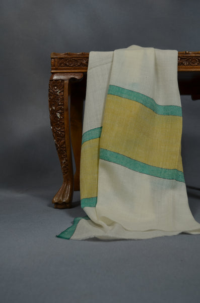 Border Pattern Handwoven Cashmere Pashmina Scarf