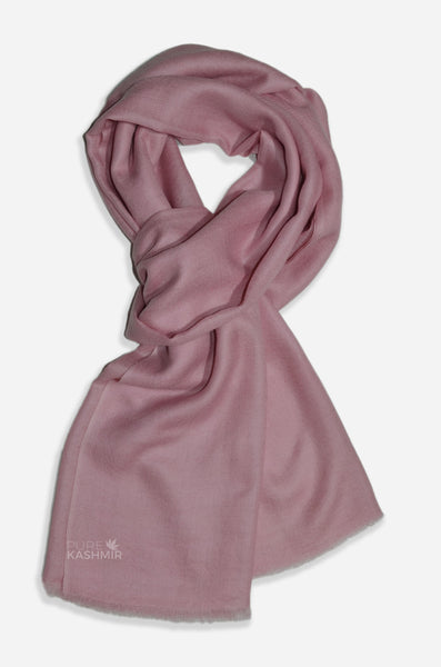 "Beautifully light and scrumptiously soft ""Baby Pink"" Cashmere Scarf is hand woven from the highest grade of 100% pure Cashmere from Kashmir."
