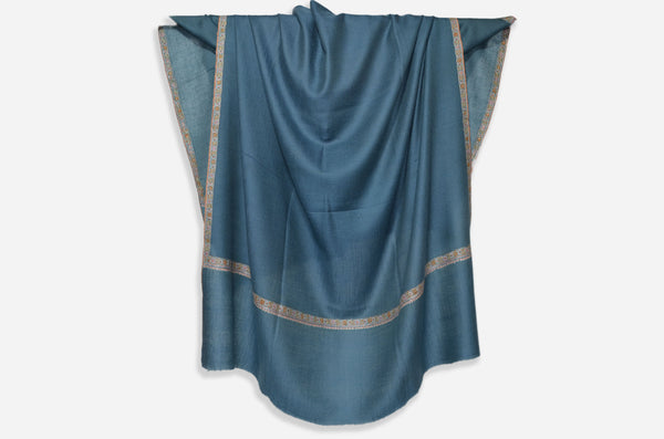 Aegean Cashmere Pashmina Shawl with Beautifully  Crafted Border