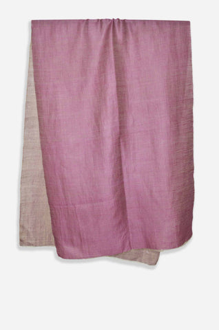 2831538886dcc Reversible Metallic Pink and Silver Handwoven Cashmere Pashmina Scarf