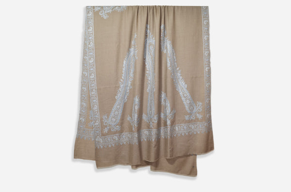 Oversized 3 Yard Pashmina Embroidery Shawl
