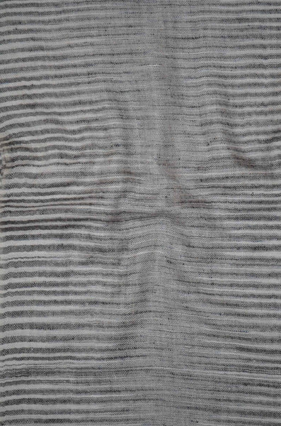 Classic Black and White Stripes Handwoven Cashmere Pashmina Scarf