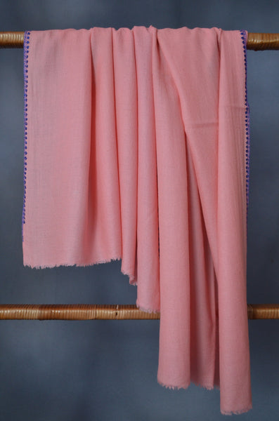 Peach Sozni Embroidery Scarf