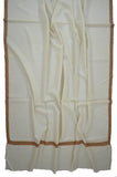 White Base Hashi Dar Pashmina Shawl