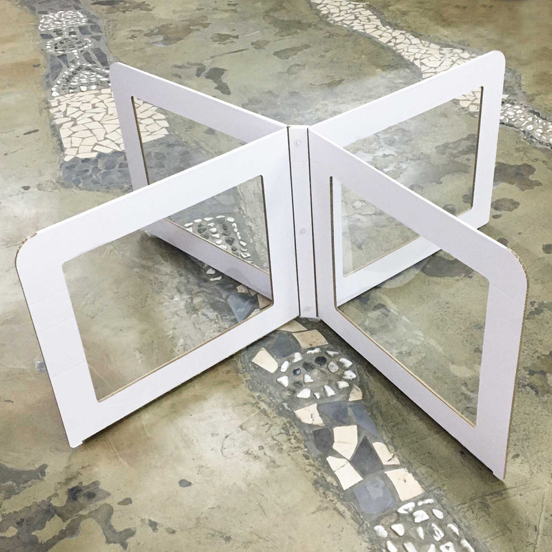 4-Way White Board Table Divider