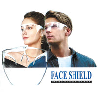 Protective Transparent Anti-Fog Face Shield with glasses & Eye shield