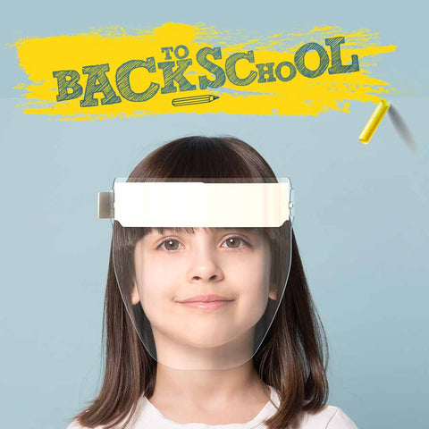 Kids Face Shield White Strap | Back to School