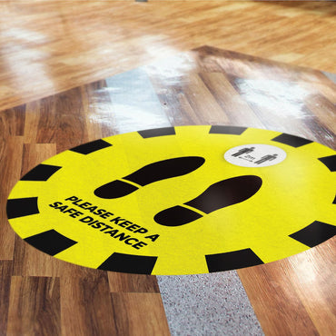 Floor Stickers | Qty: 51 to 100 Stickers
