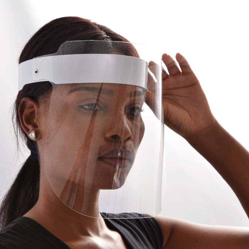 Face Shield White Strap | 10 in a Box