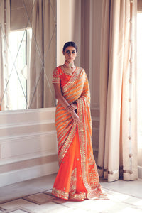ranas-by-kshitija-fascination-orange-saree