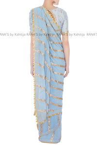 Exclusive Saree with Gota Lines Work - Rana's by Kshitija