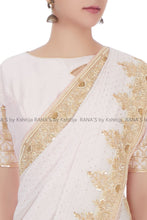 Rich Zardozi Mukesh Work Saree