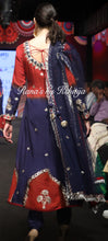 A Line Ombre Deep Blue Suit Set in Pure Georgette - Rana's by Kshitija