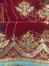 A Red Pure Georgette Bandhej Saree