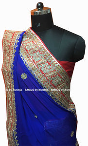 ranas-by-kshitija-beautiful-blue-gota-work-saree