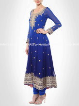 Beautiful Blue Kalidar Zardozi Suit - Rana's by Kshitija
