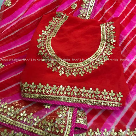ranas-by-kshitija-beautiful-combination-of-pink-leheriya-saree