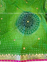 Beautiful Fine Gota Worked Bandhej Saree - Rana's by Kshitija