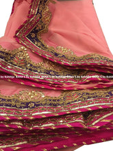 Beautiful Pretty Pink Colorful Border Saree - Rana's by Kshitija