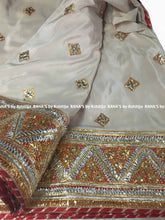 Beige Gota Bale Saree in Fine Work