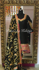 Black Suit with Jaal Handworked Dupatta