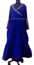 ranas-by-kshitija-blue-floor-length-mirror-worked-dress