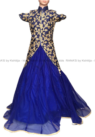 ranas-by-kshitija-blue-jacket-kids-lehenga