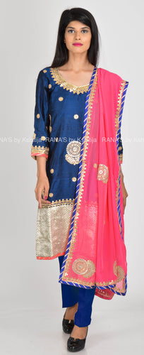 ranas-by-kshitija-deep-blue-chatai-work-salwar-suit