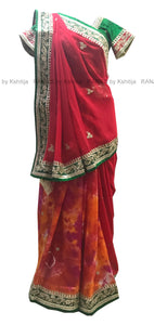 Designer Half Half Saree with Pretty Gota Border