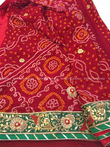 ranas-by-kshitija-designer-handworked-saree-in-red-bandhej-saree