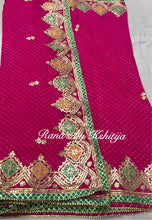Designer Pure Georgette Leheriya Saree with FIne Gota Design