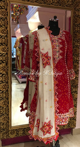 Designer Red Suit in Exclusive Handwork