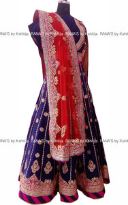 ranas-by-kshitija-electric-blue-peacock-design-lehenga