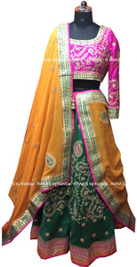 Emrald Green Lehenga Dress - Rana's by Kshitija