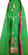 Gorgeous Green Floor Length Kalidar