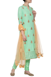 Mint Green Gota Zardozi Salwar Suit