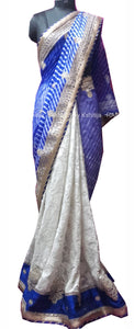 ranas-by-kshitija-half-half-blue-and-white-leheriya-saree