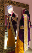 Designer half half yellow purple bandhej saree - Rana's by Kshitija