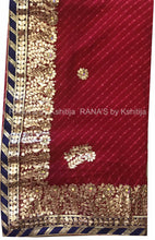 Pink Leheriya Saree With Rich Gota Work - Rana's by Kshitija