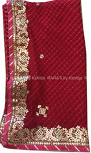 ranas-by-kshitija-designer-leheriya-saree-with-rich-gota-work