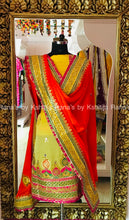 A Rich Yellow Orange Designer Salwar Suit