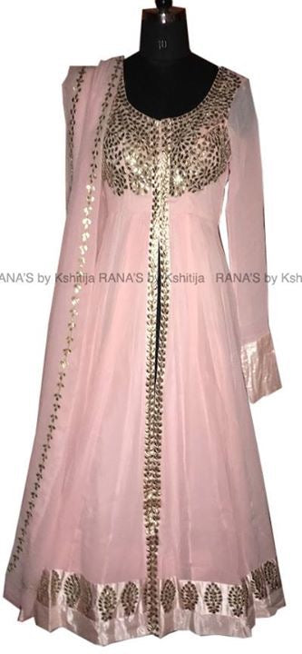 Pretty peach floor length dress - Rana's by Kshitija